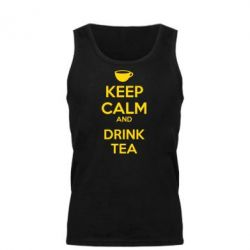 Мужская майка KEEP CALM and drink tea - FatLine