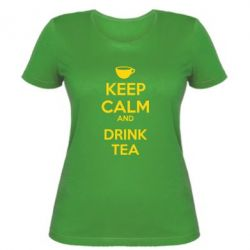 Женская футболка KEEP CALM and drink tea - FatLine