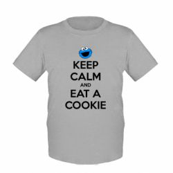 Детская футболка Keep Calm and Eat a cookie - FatLine