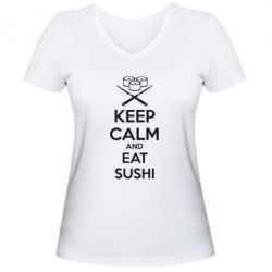 ������� �������� � V-�������� ������� KEEP CALM and EAT SUSHI - FatLine