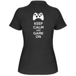Женская футболка поло KEEP CALM and GAME ON - FatLine