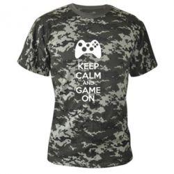 Камуфляжная футболка KEEP CALM and GAME ON - FatLine