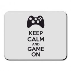 Коврик для мыши KEEP CALM and GAME ON - FatLine