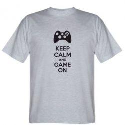Мужская футболка KEEP CALM and GAME ON - FatLine
