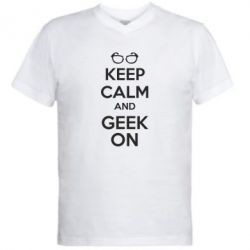 ������� ��������  � V-�������� ������� KEEP CALM and GEEK ON - FatLine