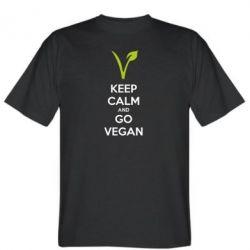 Мужская футболка Keep calm and go vegan - FatLine