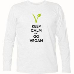 Футболка с длинным рукавом Keep calm and go vegan - FatLine