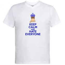 ������� ��������  � V-�������� ������� KEEP CALM and HATE EVERYONE - FatLine