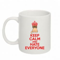 Кружка 320ml KEEP CALM and HATE EVERYONE - FatLine