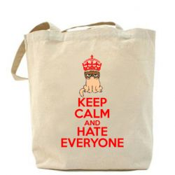 Сумка KEEP CALM and HATE EVERYONE - FatLine