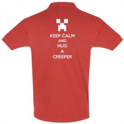 Футболка Поло KEEP CALM and HUG A CREEPER - FatLine