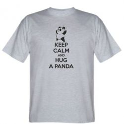 Мужская футболка KEEP CALM and HUG A PANDA - FatLine