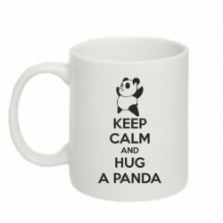 Кружка 320ml KEEP CALM and HUG A PANDA