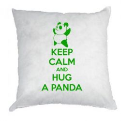 Подушка KEEP CALM and HUG A PANDA
