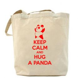Сумка KEEP CALM and HUG A PANDA - FatLine