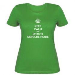Женская футболка KEEP CALM and LISTEN to DEPECHE MODE
