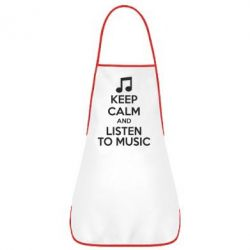 Фартук KEEP CALM and LISTEN TO MUSIC - FatLine