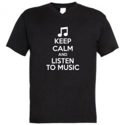 ������� ��������  � V-�������� ������� KEEP CALM and LISTEN TO MUSIC - FatLine