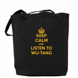 Сумка KEEP CALM and LISTEN to WU-TANG - FatLine
