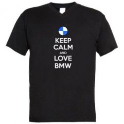 ������� ��������  � V-�������� ������� Keep Calm and Love BMW - FatLine