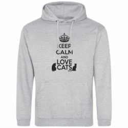 Толстовка KEEP CALM and LOVE CATS
