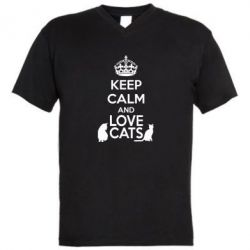 ������� ��������  � V-�������� ������� KEEP CALM and LOVE CATS - FatLine