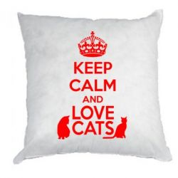 Подушка KEEP CALM and LOVE CATS - FatLine