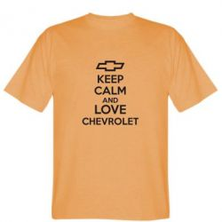 Мужская футболка KEEP CALM AND LOVE CHEVROLET - FatLine