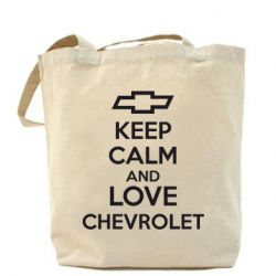 Сумка KEEP CALM AND LOVE CHEVROLET - FatLine