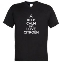 ������� ��������  � V-�������� ������� KEEP CALM AND LOVE CITROEN - FatLine