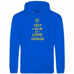 Толстовка KEEP CALM AND LOVE DODGE - FatLine