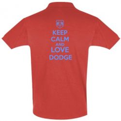 Футболка Поло KEEP CALM AND LOVE DODGE - FatLine