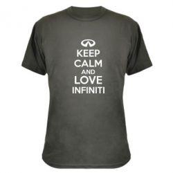 Камуфляжная футболка KEEP CALM and LOVE INFINITI - FatLine