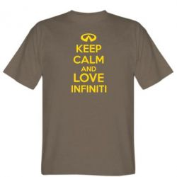 Мужская футболка KEEP CALM and LOVE INFINITI - FatLine