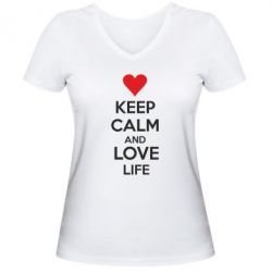 ������� �������� � V-�������� ������� KEEP CALM and LOVE LIFE