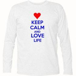 Футболка с длинным рукавом KEEP CALM and LOVE LIFE - FatLine