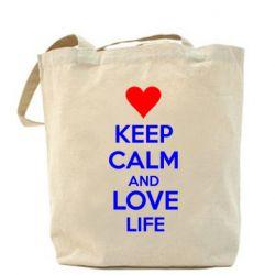 Сумка KEEP CALM and LOVE LIFE - FatLine