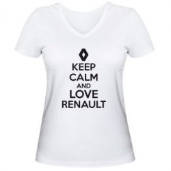 ������� �������� � V-�������� ������� KEEP CALM AND LOVE RENAULT