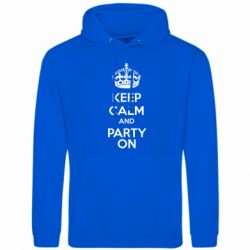 Толстовка KEEP CALM and PARTY ON