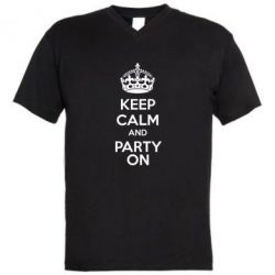 ������� ��������  � V-�������� ������� KEEP CALM and PARTY ON - FatLine