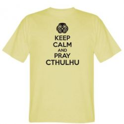 Мужская футболка KEEP CALM AND PRAY CTHULHU - FatLine