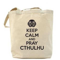 Сумка KEEP CALM AND PRAY CTHULHU - FatLine