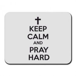 Коврик для мыши KEEP CALM and PRAY HARD - FatLine