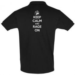 Футболка Поло KEEP CALM and RAGE ON - FatLine