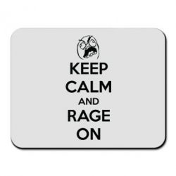 Коврик для мыши KEEP CALM and RAGE ON - FatLine