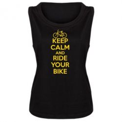 Женская майка KEEP CALM AND RIDE YOUR BIKE - FatLine