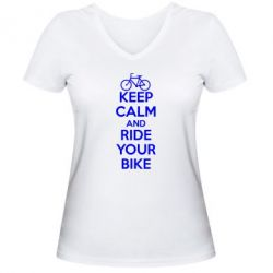 ������� �������� � V-�������� ������� KEEP CALM AND RIDE YOUR BIKE - FatLine