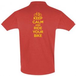 Футболка Поло KEEP CALM AND RIDE YOUR BIKE