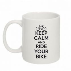 Кружка 320ml KEEP CALM AND RIDE YOUR BIKE - FatLine
