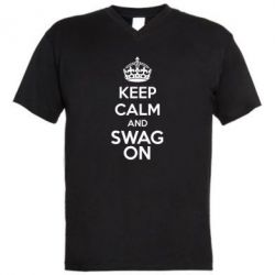 ������� ��������  � V-�������� ������� KEEP CALM and SWAG ON - FatLine
